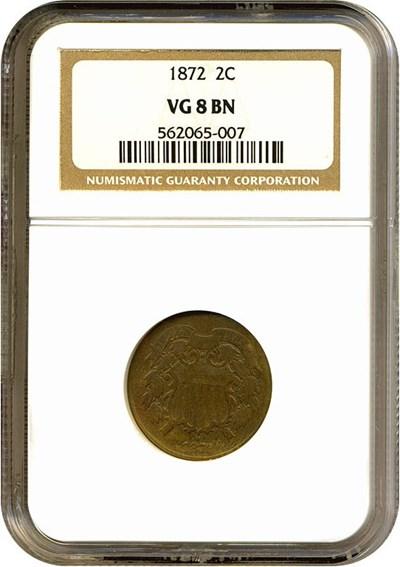 Image of 1872 2c  NGC VG-8 BN