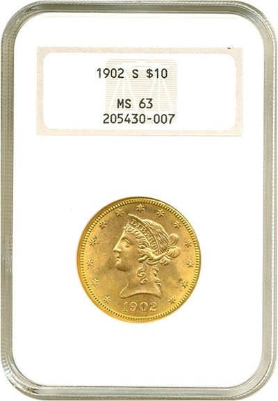 Image of 1902-S $10  NGC MS63