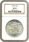 Image of 1925-S $1  NGC MS63
