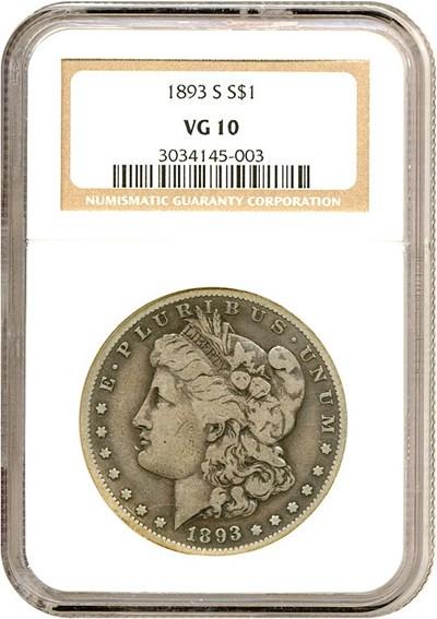Image of 1893-S $1  NGC VG10
