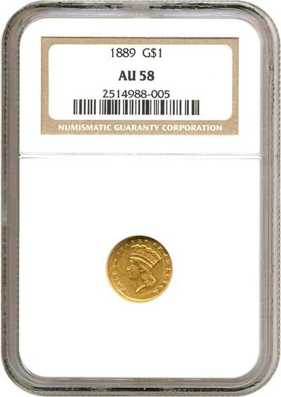 Image of 1889 G$1  NGC AU58