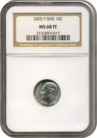 Image of 2005-P SMS 10c  NGC MS68 FT