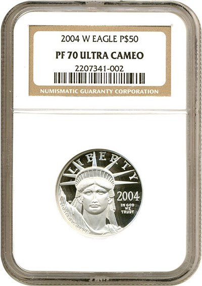 Image of 2004-W $50 Platinum Eagle NGC Proof 70 UCameo