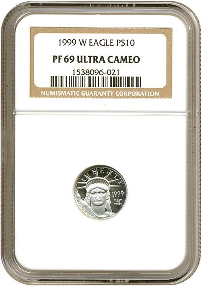 Image of 1999-W $10 Platinum Eagle NGC Proof 69 UCameo