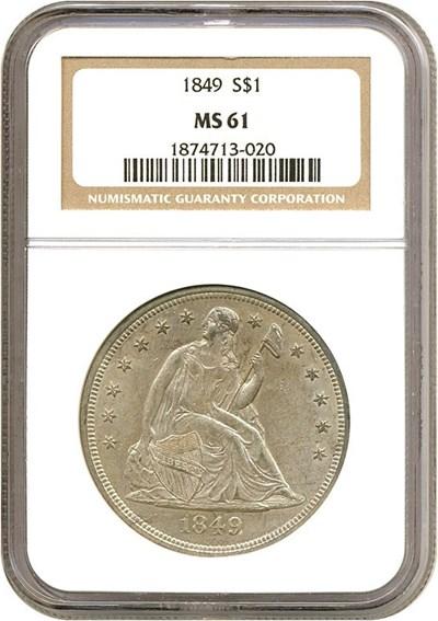 Image of 1849 $1  NGC MS61