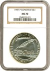 Image of 1987-P $1 Constitution NGC MS70