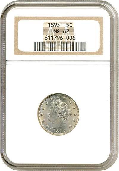 Image of 1893 5c  NGC MS62