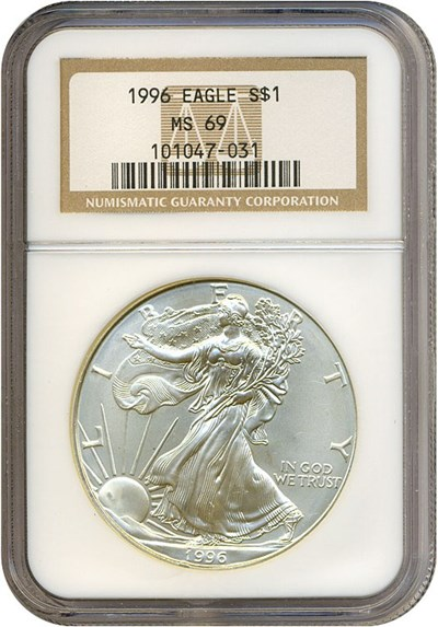 Image of 1996 $1 Silver Eagle NGC MS69