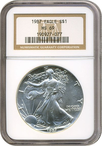 Image of 1987 $1 Silver Eagle NGC MS69