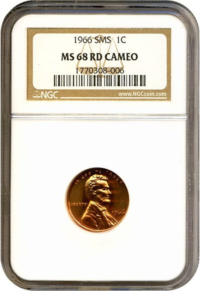 Image of 1966 1c SMS NGC MS68 RDCameo