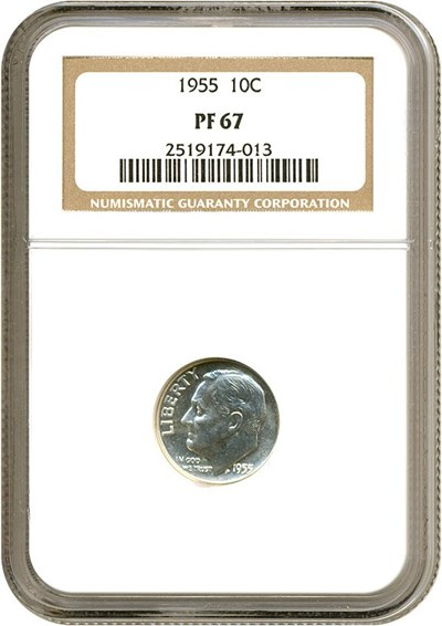 Image of 1955 10c  NGC Proof 67