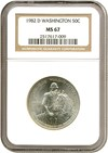 Image of 1982-D 50c Washington NGC MS67