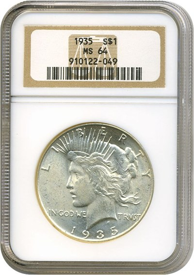 Image of 1935 $1  NGC MS64