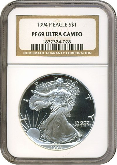 Image of 1994-P $1 Silver Eagle NGC Proof 69 UCameo