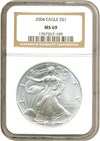 Image of 2004 $1 Silver Eagle NGC MS69