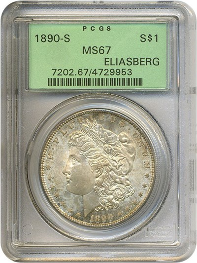 Image of 1890-S $1  PCGS MS67