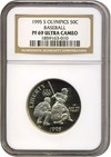 Image of 1995-S 50c Olympic Baseball NGC Proof 69 UCameo