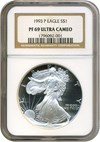 Image of 1993-P $1 Silver Eagle NGC Proof 69 UCameo