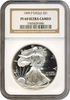 Image of 1999-P $1 Silver Eagle NGC Proof 69 UCameo