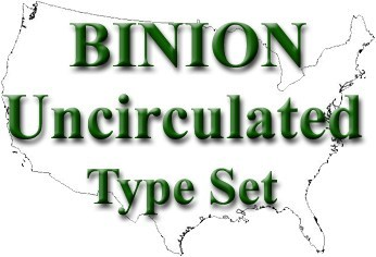 Image of 10c -- $1 Uncirculated Type Set - Binion #2 of 2500