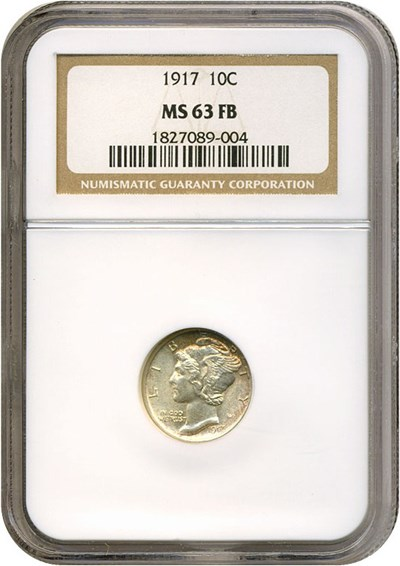 Image of 1917 10c  NGC MS63 FB