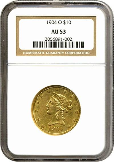 Image of 1904-O $10  NGC AU53