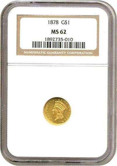 Image of 1878 G$1  NGC MS62