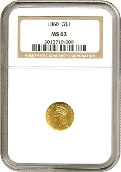 Image of 1860 G$1  NGC MS62