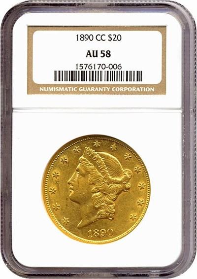 Image of 1890-CC $20  NGC AU58