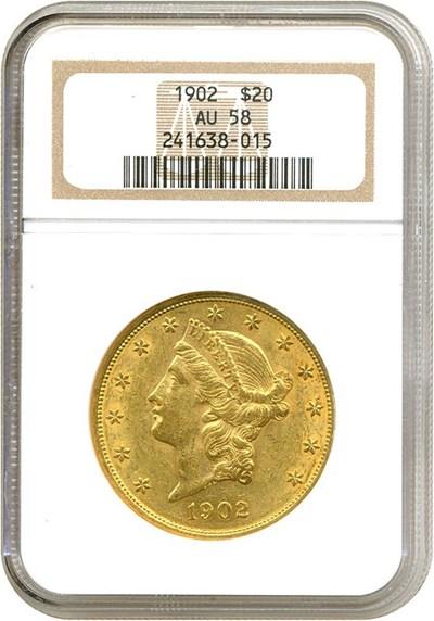 Image of 1902 $20  NGC AU58