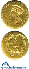 Image of 1872 $3  NGC AU55