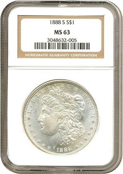 Image of 1888-S $1  NGC MS63