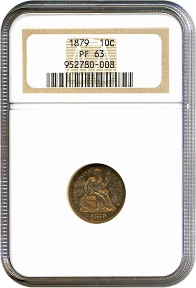 Image of 1879 10c  NGC Proof 63