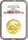 Image of 2006 $50 American Buffalo - First Strikes NGC MS70