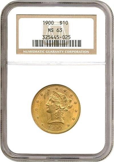 Image of 1900 $10  NGC MS63
