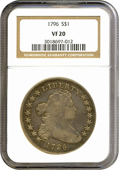 Image of 1796 $1 NGC VF20