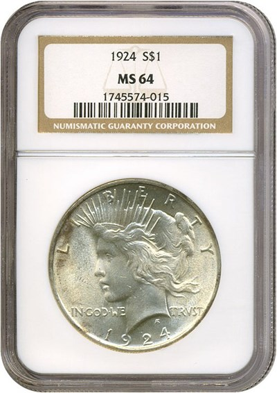 Image of 1924 $1  NGC MS64