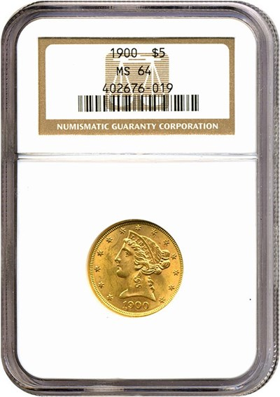 Image of 1900 $5  NGC MS64