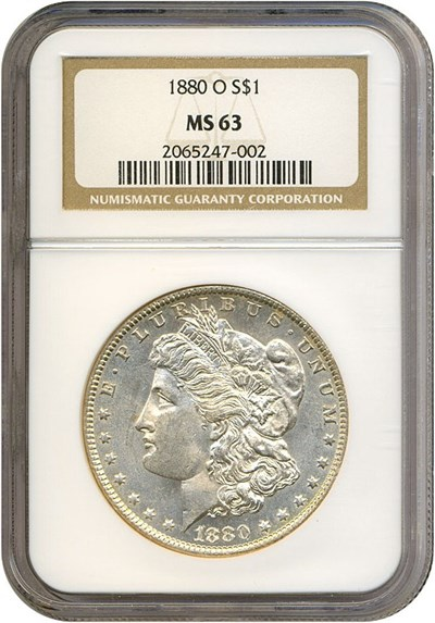 Image of 1880-O $1  NGC MS63
