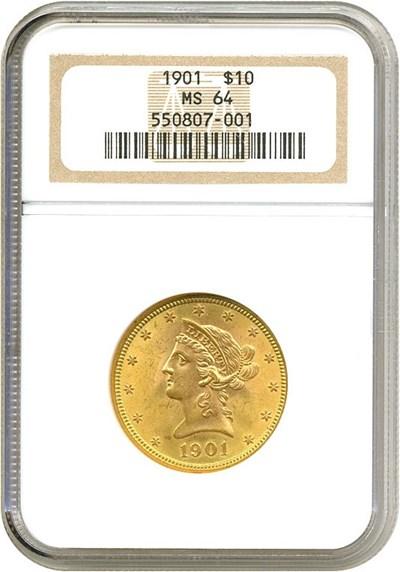 Image of 1901 $10  NGC MS64