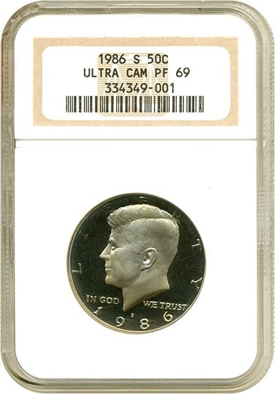 Image of 1986-S 50c  NGC Proof 69 UCameo