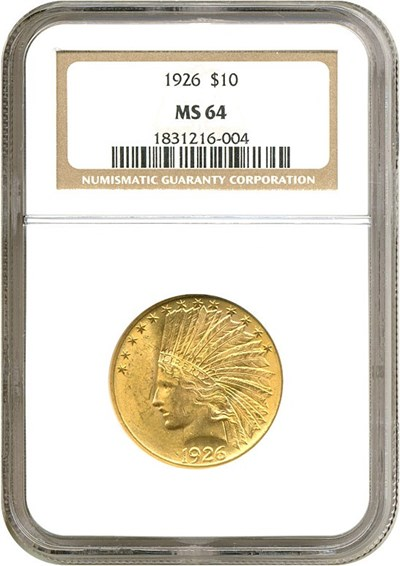 Image of 1926 $10  NGC MS64