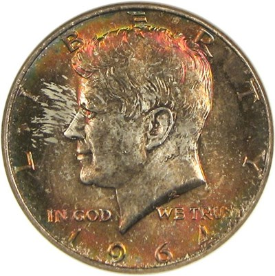 Image of 1964 50c  NGC MS65 *Color*