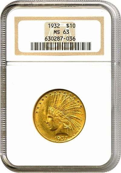 Image of 1932 $10  NGC MS63