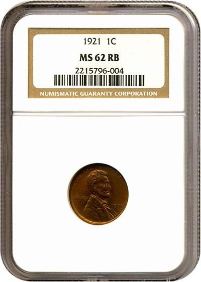 Image of 1921 1c  NGC MS62 RB