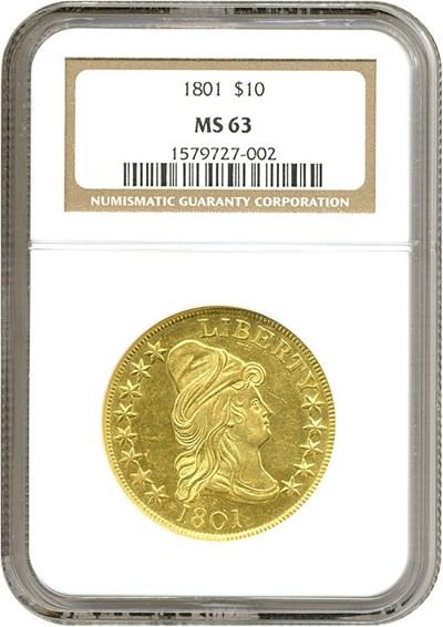 Image of 1801 $10  NGC MS63