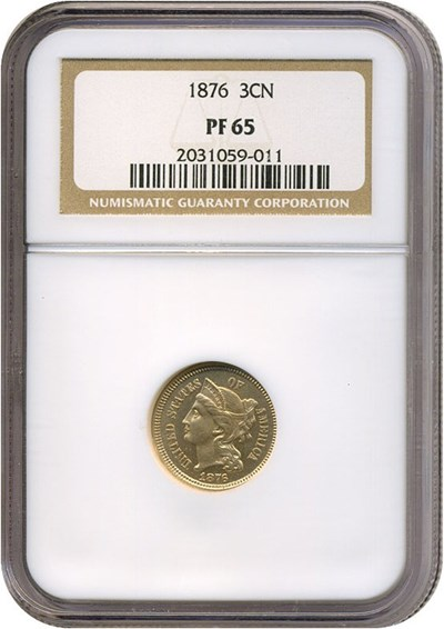Image of 1876 3cN  NGC Proof 65