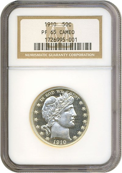 Image of 1910 50c  NGC Proof 65 Cameo