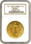 Image of 1907 $20 Saint Gaudens NGC MS66
