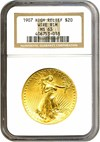 Image of 1907 $20 High Relief - Wire Edge NGC MS63